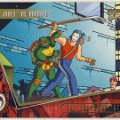 TMNT Fleer Series 2 Trading Card - Gold Parallel #87 - The Shredder Strikes - Ninja Turtles