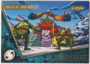 TMNT Fleer Series 2 Trading Card - Gold Parallel #89 - The Shredder Strikes - Ninja Turtles