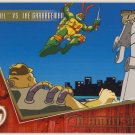 TMNT Fleer Series 2 Trading Card - Gold Parallel #96 - The Shredder Strikes - Ninja Turtles