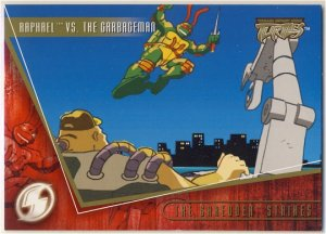 TMNT Fleer Series 2 Trading Card - Gold Parallel #96 - The Shredder Strikes - Ninja Turtles