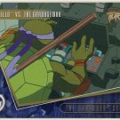 TMNT Fleer Series 2 Trading Card - Gold Parallel #97 - The Shredder Strikes - Ninja Turtles