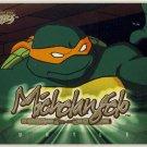 TMNT Fleer Series 1 Trading Card - Gold Parallel #44 - Michelangelo - Ninja Turtles