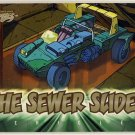 TMNT Fleer Series 1 Trading Card - Gold Parallel #83 - The Sewer Slider - Ninja Turtles