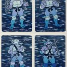 Ninja Turtles Holographic Trading Cards Set of 4 - TMNT