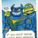 Leonardo & Ray Fillet Friendship Greeting Card - Ninja Turtles - TMNT