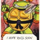 Michaelangelo Get Well Soon Greeting Card - Ninja Turtles - TMNT