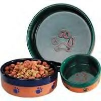 Pet Studio Terra Cotta Dog Bowls (7 In)