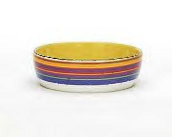 Kate Ward Thacker Rainbow Stripe Cat Dish