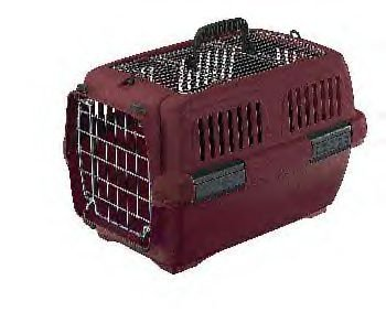 Aran 2 Clipper Pet Carrier - Beige/wine 22 X 14 X 14