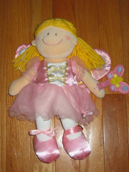 Russ Soft Blonde Baby Doll Pink Butterfly Fairy Dress
