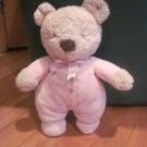 Carter's Tan Teddy Bear with Pink Pajamas with Buttons