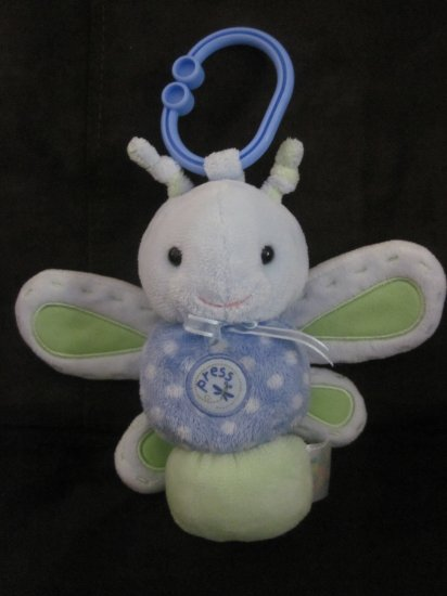 Carters Just One Year Musical Blue & Green Butterfly Dragonfly