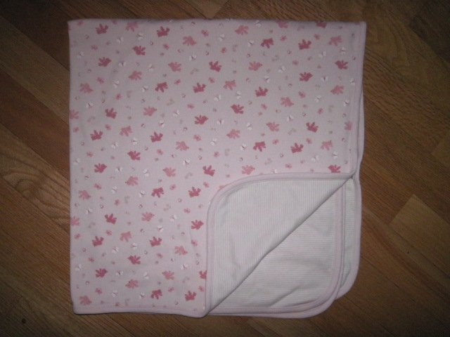 Baby Sprocket Pink Reversible Blanket With Birds