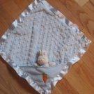 Baby Gund Buffy Blue Blankie Minky Dot Bunny Rabbit Lovey with Carrot #36276