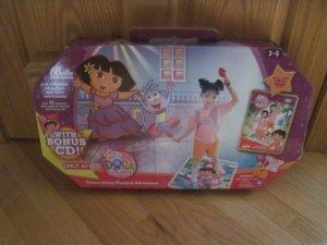 Bella Dancerella Dora the Explorer Dance Along Musical Adventure Mat Maracas Costume Dvd CD