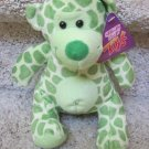 Green Sugar Loaf Coinstar Plush Teddy Bear with Giraffe Print
