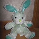 Walmart Brand Teal Green Plush Bunny Rabbit Flower Bow