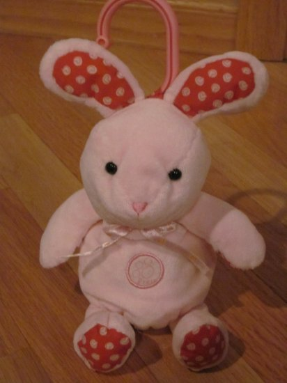 Carter's Child of Mine Pink Bunny Rabbit Baby Hugs Baby Kisses Musical Plush Toy