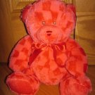 Sugar Loaf Red Checkered Teddy Bear 12 Inch Plush with Rattle