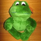"Fiesta Plush 7.5"" Green Sitting Frog"