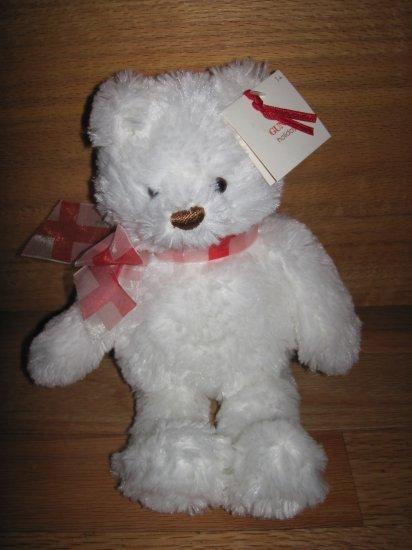 Gund Plush Small White Holiday Brighton Teddy Bear 14381