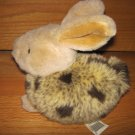 Walmart Plush Beige Gray Black Spotted Furry Bunny Rabbit