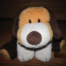 Ty Pluffies Orange White & Brown Plush Puppy Dog named Whiffer Tylux  2002