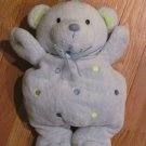 Carters Just One Year Light Blue Teddy Bear with Dots on Tummy Musical Crib Toy