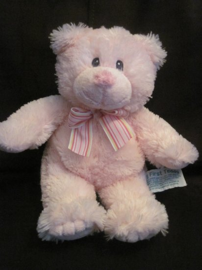 Russ Baby Russ Berrie Pink Plush 10 Inch My First Teddy