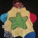 First Years Learning Curve Baby Yellow Star Teething Blanket Lovey