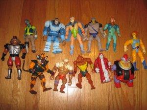 12 Vintage Thundercats Action Figures Telepix LJN Toys Lot