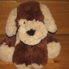 Animal Adventure Large Fluffy Beige & Dark Chocolate Brown Floppy Puppy Dog with Red Bandanna