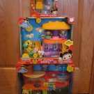 Ni Hao Kai Lan Playsets Figures Tolee's Treehouse,  Mr. Fulffy's Bakery &  Sleep Over