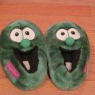 2001 Big Idea Plush VeggieTales Larry the Cucumber Slippers Size M 7/8 Veggie Tales
