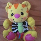 Fisher Price Plush Yellow Kitty Cat Musical Meow Vibrating Butterfly 74066