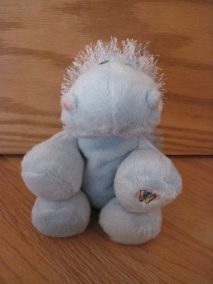 Ganz Webkinz Blue Hippo Spunky Hair Plush Toy No Code