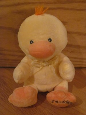 Russ Berrie Lil\' Waddler Little Plush Yellow Duck with Orange Feet ...