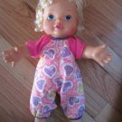 Vintage Kenner 1993 Baby Needs Me Doll Pink & Purple Heart Outfit