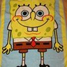 Nickelodeon Sponge Bob Square Pants Luxe Plush Toddler Size Crib Blanket Spongebob