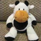 TY Retired Pluffies Grazer the Black & White Holstein Cow Tylux Plush 2002