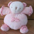 Chosun International Plush Round Tummy Chime Teddy Bear Pink Gingham Ruffles