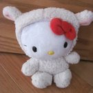 Hello Kitty Small 6 Inch Plush Dressed in Lamb Sheep Outfit Costume Red Bow