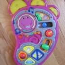 Mattel Barney the Dinosaur Musical Singing Silly Sounds Foot Busy Activity Tunes Box