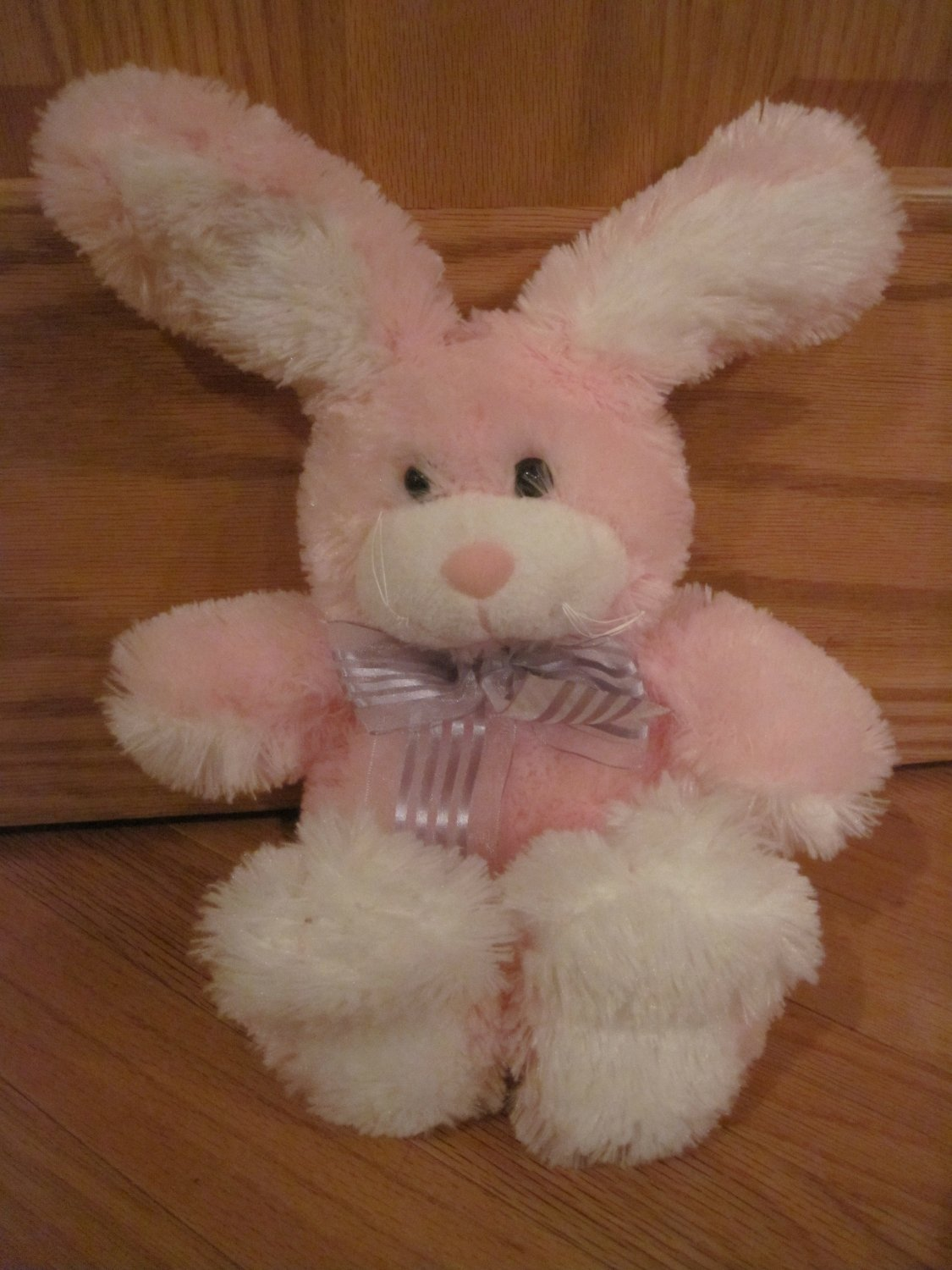 Animal Adventure Plush Pink Fluffy Bunny Rabbit With