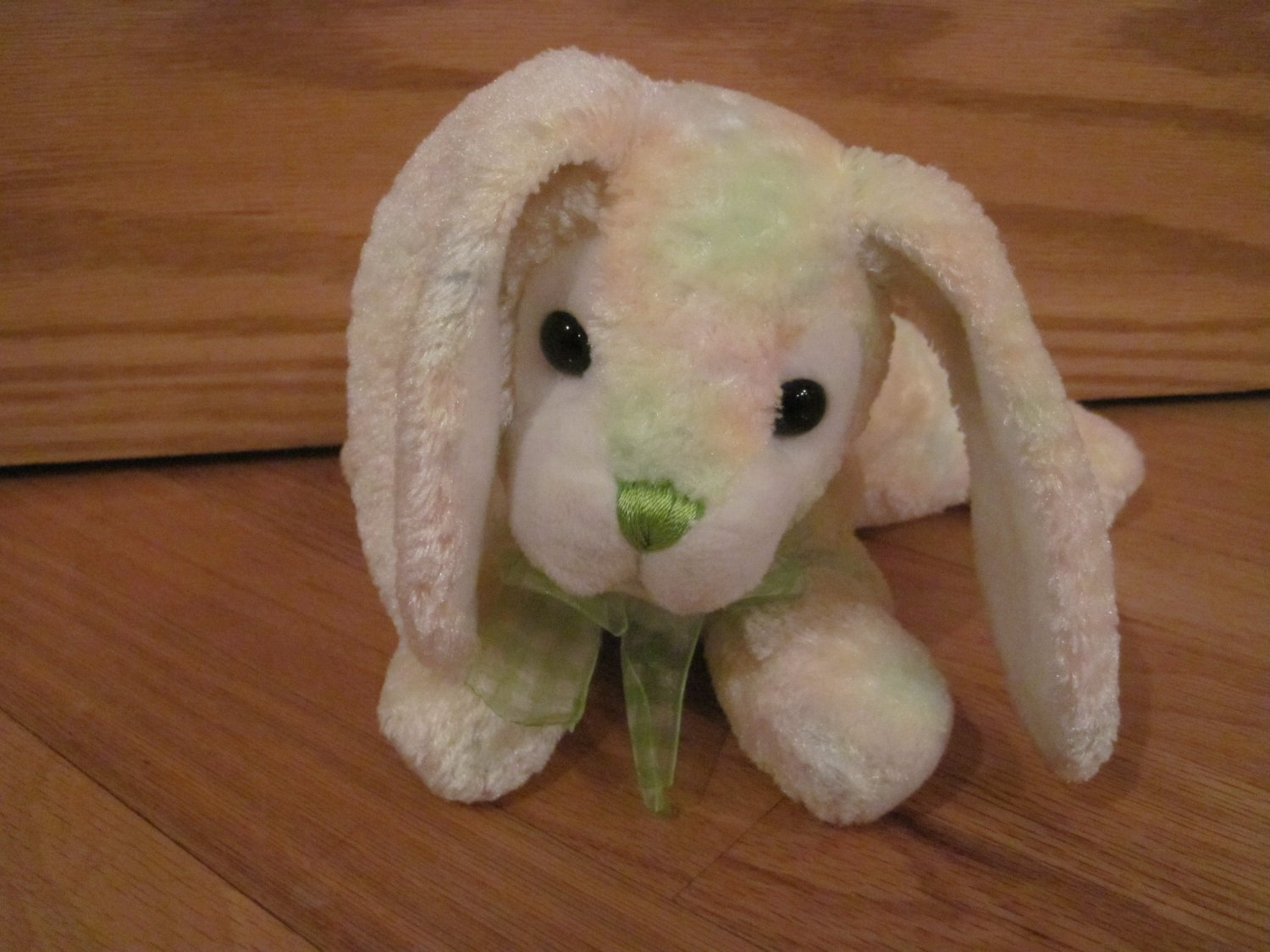 Walmart Plush Laying Bunny Rabbit Pastel Fur White Fluffy