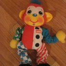 Playskool Touch Tug Pal Bright Colorful Monkey Rattle 1996 Hanging Pull Toy with Patterns