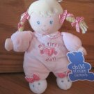 Carters Child of Mine My First Doll Blonde Braids Bunny Slippers Gingham Heart Bows