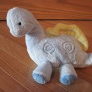 Carters Baby Blue & Yellow Musical Wind Up Dinosaur Rock A Bye Baby Toy Swirls