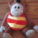 Jay At Play Mushabelly Chatter Plush Brown Microbead Monkey Named Zachary Squeak Sound Toy