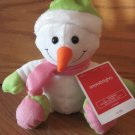 Animal Adventure Plush White Snowman Wearing Pink & Green Scarf Hat Mittens Boots Target
